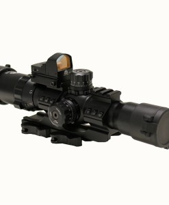 Trinity Force Assault 1-4 x 28mm Mil-Dot Scope with Micro Red Dot and QD Mount